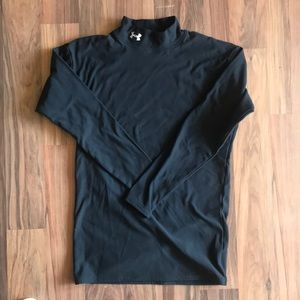 Under Armour Mock Neck Long Sleeve Tee- Size L